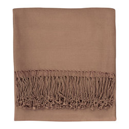 Nine Space - Solid Bamboo Viscose Throw, Taupe - Throws like this are as functional as they are versatile. Toss one across a chair, chaise or bed to add an instant shot of color, then when the evening chill sets in, wrap yourself in its warmth. Oh-so soft and whisper light, this throw is woven from ecofriendly bamboo viscose that provides lightweight warmth to be enjoyed year-round.