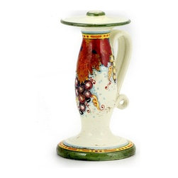 Artistica - Hand Made in Italy - Vite: Candlestick Old World (Tall) - Vite Autunno Collection: