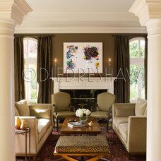 Mediterranean Dining Room by Diedre Shaw Interiors