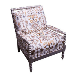 Ikat Embroidered Cotton Linen Chair - $3,890 Est. Retail - $2,700 on Chairish.co -