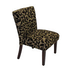 4D Concepts - 4D Concepts Oversized Accent Chair in Brown Flock - Oversized accent chair. Just sit on this chair and you will know that it is the perfect fit! The two tone fabric and extra cushion adds to the comfort of this chair. The chair is accented with dark finished wood legs. The chair is covered in a rich brown flock: velvet over a polyester weave comes ready to assemble.