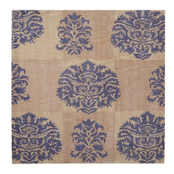 Safavieh - Contemporary Wyndham Square 7' Square Beige-Lavander Area Rug - The Wyndham area rug Collection offers an affordable assortment of Contemporary stylings. Wyndham features a blend of natural Beige-Lavander color. Hand Tufted of Wool the Wyndham Collection is an intriguing compliment to any decor.