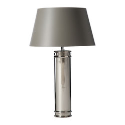 Nickel-glazed Porcelain Table Lamp