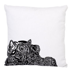 "EJH Brand - Hippo Decorative Throw Pillow - Not since the dance number in Disney's classic ""Fantasia"" has this beast held the spotlight so beautifully. As a totem, hippos represent birth, creativity and healing — an excellent vibe for your setting, in an ecofriendly blend of hemp and organic cotton."