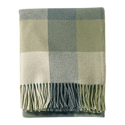 Frontgate - Eco-Wise Washable Wool Throw - Crafted of 100% pure virgin wool. Woven in American mills. Makes a perfect wedding or housewarming gift. Machine wash. Our earth-friendly Eco-wise Lambswool Fringed Throw is machine washable and gets softer and softer with every wash, without losing its beautiful, rich color. A natural wrap for chilly weather, this throw's gorgeous plaid makes a great room accent.  .  .  .  . Made in the USA.
