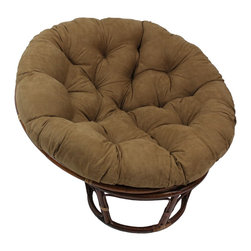 Blazing Needles - Blazing Needles 44-inch Diameter Papasan Cushion - The Blazing Needles 44-inch diameter Papasan Cushion is filled with environmentally-friendly regenerated polyester fiber. This cushion is made from ultra soft micro suede fabric,in your choice of six beautiful colors.