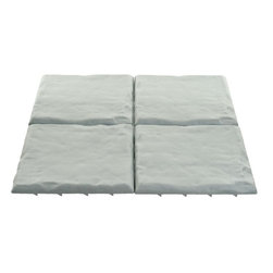 Trademark Home Collection - Outdoor Gray Rock Decorative Garden Tiles - Durable Plastic Construction. Four Decorative Tiles. Sure Hold Cleats. Authentic Rock Style. Per Tile: 11.75 in. L x 11.75 in. W x 1 in. H (4 lbs.)Bring the authentic look of a rock path to your garden or lawn with Gray Rock Decorative Garden Tiles by Trademark Home Collection. Each tile features cleats to stay where you place them, but unlike real rock these garden tiles are easy to move. Arrange the four tiles into any pattern you desire with ease. Bring a touch of elegance to your law or garden with the Gray Rock Decorative Garden Tile by Trademark Home Collection.