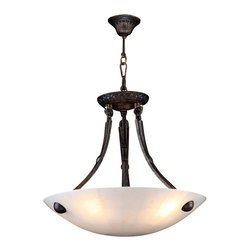 Worldwide Lighting - W83804F16 Pompeii Bowl Pendant 16 In. - 4 Natural Quartz Light in Flemish Brass - This 4-light Pompeii Collection bowl pendant in Flemish Brass finish and Natural Quartz is a stunning addition to your home and is dressed with our 30% PbO Premier Crystal glass. Worldwide Lighting Corporation is a premier designer manufacturer and direct importer of fine quality chandeliers, surface mounts, and sconces for your home at a reasonable price. You will find unmatched quality and artistry in every luminaire we manufacture.