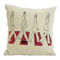reStyled by Valerie - Beatles Decorative Pillow, Throw Pillow Cover, Accent Pillow Cover - You're not one to let it be. Add your 16-inch square pillow insert to this cover for a little decorating pop that will help your room come together. The iconic image is screen printed on one side of a luxurious and long-wearing linen and rayon blend fabric that has a zipper closure on bottom.