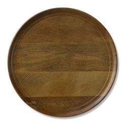 Venezia Wooden Charger - If you don't have a set of dishes that are specifically for the fall season, try dressing up your everyday pieces with a charger. The rustic look of this Venezia charger from Williams-Sonoma would be great for autumn.