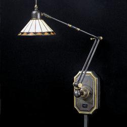"Quoizel - Quoizel TF8156Z Medici Bronze Pueblo Craftsman / Mission Swing Arm - 26"" H, 6"" W, 24"" Ext.Brass Material(1)50W T3 Bi Pin, Bulb SuppliedMedici Bronze FinishItem Weight: 3.00 LBS"