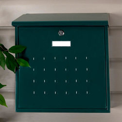 Premium Maxi Locking Wall-Mount Mailbox - With its raised square design, this mailbox provides a sizable width and is ideal for spacious home entrances. The Premium Maxi Mailbox is a perfect addition to any outdoor decor.