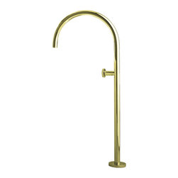 KOHLER - KOHLER K-8359-AF Floor-mount bath filler (non-laminar) in Vibrant French Gold - KOHLER K-8359-AF Floor-mount bath filler (non-laminar) in Vibrant French Gold