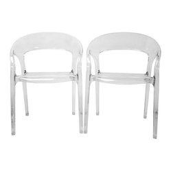 Chole Acrylic Clear Chair (Set of 2)