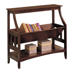Poundex - Poundex Magazine Table in Cappuccino - Poundex - End Tables - F4619 - Cappuccino finish item features storage shelves. The lower storage can be showed off your collectables beautifully. This item is designed to be practical in use and elegant to beautify your home decor. Assembly required