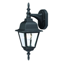Black Outdoor Patio or Porch Exterior Light Fixture - Finish: Textured Black