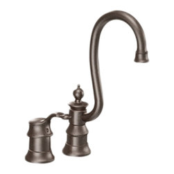 Moen - Moen S611ORB Oil Rubbed Bronze High Arc Bar Faucet Single Lever Handle, ADA - The intricate charm of the Waterhill collection will instantly add character to your home. A range of products provide all the design features necessary to enrich your space.