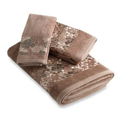 Croscill - Croscill Mosaic Tile Bath Towel - With their inspiration of old architecture, these Mosaic Tile bath towels feature mosaic texturized embroidery. They bring classical appeal to the modern home.