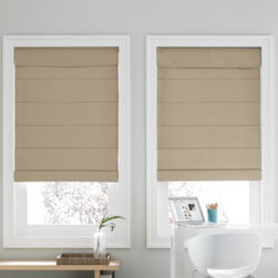 Real Simple - Real Simple  Roman Shade - Create a cozy atmosphere in your home with these shades. The shades are cordless and feature a blackout thermal backing and cellular fabric that provides two layers of additional energy-saving insulation to help you save on heating and cooling costs.