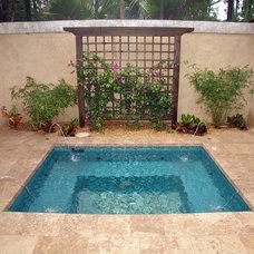 Mediterranean Pool by Cote Renard Architecture