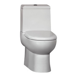 "Ariel - Ariel Platinum ""Camilla"" Contemporary European Toilet with Dual Flush 26x15x26 - Ariel cutting-edge designed one-piece toilets with powerful flushing system. It's a beautiful, modern toilet for your contemporary bathroom remodel."