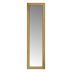 """Posters 2 Prints, LLC - 24"""" x 81"""" Arqadia Gold Traditional Custom Framed Mirror - 24"""" x 81"""" Custom Framed Mirror made by Posters 2 Prints. Standard glass with unrivaled selection of crafted mirror frames.  Protected with category II safety backing to keep glass fragments together should the mirror be accidentally broken.  Safe arrival guaranteed.  Made in the United States of America"""