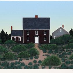 Theodore Jeremenko, Farmhouse 2, Silkscreen - Artist:  Theodore Jeremenko, American (1938 - )