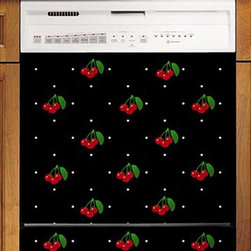 Appliance Art - Appliance Art's Cherries & Polka Dots Dishwasher Cover - Add some fruit fun to your kitchen with this cherry and polka dot pattern. Just in time for spring! Dishwasher covers are easy to install.