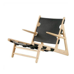 Fredericia Furniture - Borge Mogensen Hunting Chair - Low and wide, clean and powerful, this magnificently masculine Borge Mogensen–designed chair is one striking seat. Crafted from oak and leather and bound with adjustable straps, it brings refined rustic style to your chic modern space.