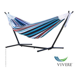 Vivere Double Cotton Hammock with Stand Combo - Vivere Double Cotton Hammock with Stand Combo