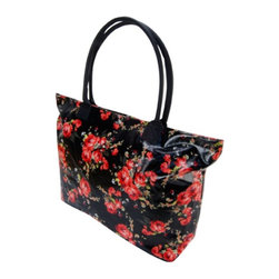 Trend Lab - Trend Lab Black Garden Rose Floral Mod Carryall Diaper Bag - 104310 - Shop for Diaper and Bottle Bags from Hayneedle.com! Glam and functional the Trend Lab Garden Rose Floral Mod Carryall Diaper Bag offers a breezy on-the-go solution for keeping baby's essentials close at hand. Six subdivisions inside the main compartment create a place for everything so everything can be in its place. With a sleek quilted exterior and soft handles this is a bag you'll be proud to carry.Additional Features Zippered top closure6 interior organizational pockets and 1 zippered pocketCoordinating changing padHandles measure 26 in.About Trend LabFormed in 2001 in Minnesota Trend Lab is a privately held company proudly owned by women. Rapid growth in the past five years has put Trend Lab products on the shelves of major retailers and the company continues to develop thoroughly tested high-quality baby and children's bedding decor and other items. Trend Lab continues to inspire and provide its customers with stylish products for little ones. From bedding to cribs and everything in between Trend Lab is the right choice for your children.