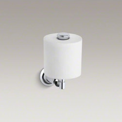 KOHLER - KOHLER Archer(R) vertical toilet tissue holder - The timeless appeal of Archer accessories works beautifully with an array of bathroom styles. This vertical toilet tissue holder embodies Archer's classical design lines, allowing you to create a unified bathroom down to the smallest detail.