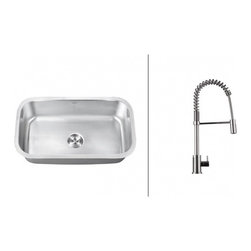 Ruvati - Ruvati RVC2491 Stainless Steel Kitchen Sink and Chrome Faucet Set - Ruvati sink and faucet combos are designed with you in mind. We have packaged one of our premium 16 gauge stainless steel sinks with one of our luxury faucets to give you the perfect combination of form and function.