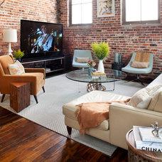 Eclectic Living Room by Capella Kincheloe Interior Design