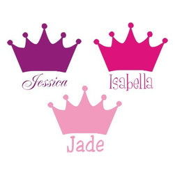 Alphabet Garden Designs - Princess Crown Wall Decal - Princess Crown Wall Decal