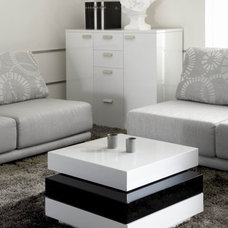 Contemporary Coffee Tables Roberts Swivel Coffee Table