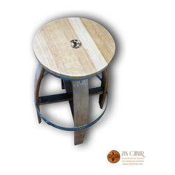 Wine Barrel Barstool (Outward Legs) - Zin Rotating Barstool (Outward legs) - http://www.zinchair.net/shop-wine-barrel-furniture/zin-bar-stool-rotating/
