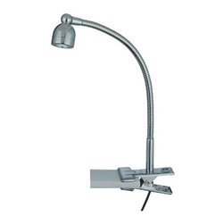 Lite Source - Lite Source LS-21098C Calipso LED Clip-On Lamp, Chrome - Lite Source LS-21098C Calipso LED Clip-On Lamp, Chrome This LED Clip-On Lamp from the Lite Source Calipso Collection, w/ its Chrome body, will add style to any home. Lite Source Inc. remains true to its commitment to provide the largest selection of fashion forward lighting that is always in style. From accent lighting and desk lighting to table lamps and ceiling lighting, Lite Source is sure to have a lighting fixture that will fit your lighting needs.Dimensions: 8″ x 6″ x 4″.
