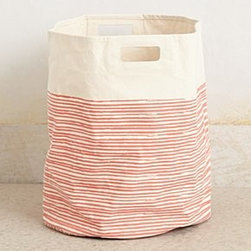 "Pehr - Pencil Stripe Canvas Basket - By PehrCotton canvasSpot clean20""H, 18"" diameterImported"