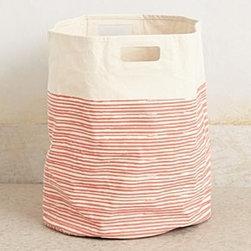 "Pehr - Pencil Stripe Canvas Basket - By PehrCotton canvasSpot clean20""H, 18"" diameterImported"
