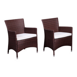 International Home Miami - Atlantic Liberty Deluxe Brown Wicker Armchair - Set of 2 - Liberty Deluxe Brown Wicker Armchair (Set of 2) belongs to Atlantic Collection by International Home Miami Great quality, stylish design patio sets, made of aluminum and synthetic wicker. Polyester cushion with water repellant treatment. Enjoy your patio with elegance all year round with the wonderful Atlantic outdoor collection.  Armchair (2)