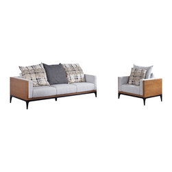 NyeKoncept - Dagne, Sofa Set - The Dagne Set, perfectly illustrates the necessary relationship between beautiful aesthetic design, good comfort and great functionality. This selection will easily complement any office or living room.