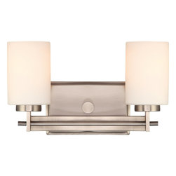 Quoizel - Quoizel TY8602AN Taylor Modern / Contemporary Wall Sconce - Linear style and precise design are the elements of this strong contemporary collection.  The opal etched glass compliments both the western bronze as well as the antique nickel finishes.  With a variety of styles to choose from, Taylor will enhance any room in your home.