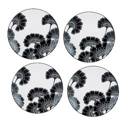 Kate Spade Japanese Floral Tidbit Plates - I love the dramatic impact of Florence Broadhurst's timeless black and white floral pattern; I'd collect a set of these tidbit plates and hang them on the wall.