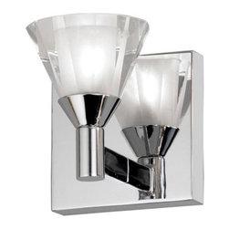 Dainolite - Dainolite V686-1W-PC 1 Light Bathroom Sconce - Features: