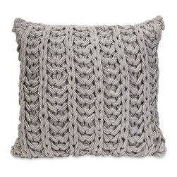 Maglia Pillow in Gray - Inspired by the most comfortable, versatile heather-gray sweater, the Maglia Pillow feels super soft to the touch. Its neutral hue and textured character make it a match for most contemporary, modern, and eclectic design styles.