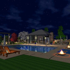 contemporary pool by 3D Designs by David