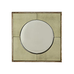 PORTAL MIRROR - This funky mirror brings back the fun and glamour of the 1970s. You've heard of bird's eye view. Well, the central mirror is sort of like that, with a convex shape that provides a way to reflect light throughout the room. With such a perfect mix of old and new (the distressed, cloudy edges give this piece an old soul feel; great for adding depth), how can you resist?