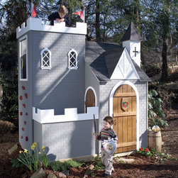 Sassafras Castle Playhouse - What child wouldn't love this play castle? They'll think they died and went to heaven. Girl or boy, there are hours of play in this luxury setup.