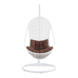 Bestow Lounge Chair In White Brown - http://www.furnishedup.com/